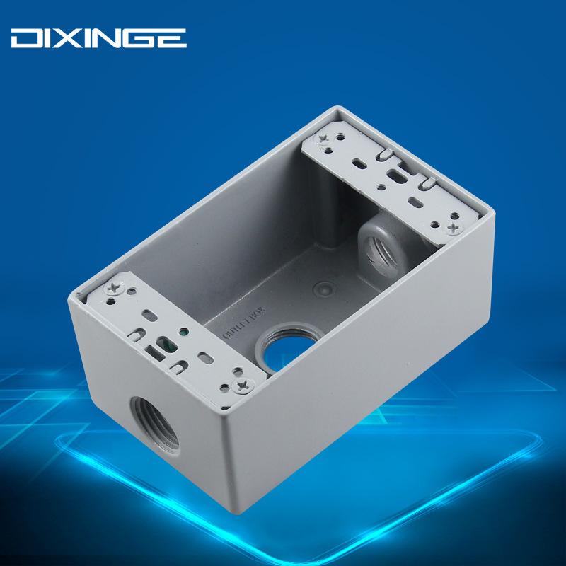 118型美式明装接线盒 美标电源插座铝制铸铁明盒美规墙壁开关底盒