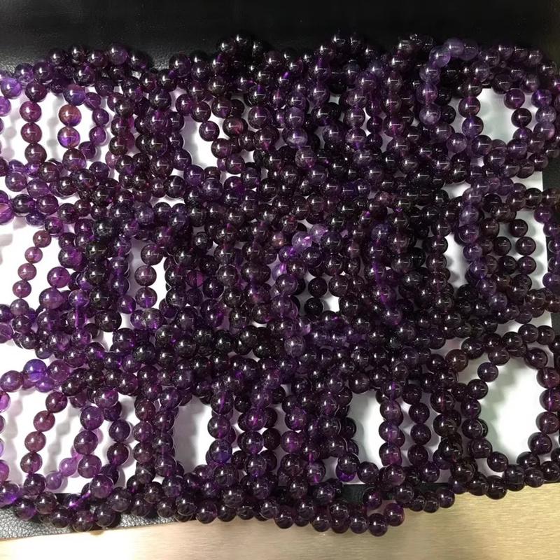 天然乌拉圭紫水晶手链女款甜美单圈手串转运时尚流行饰品正品特价