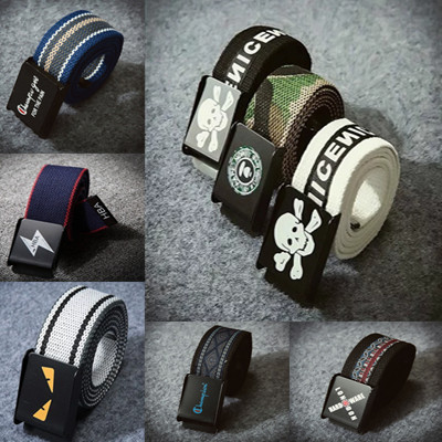 Chaozhou brand belt for young male students canvas pants belt for leisure young Chaozhou people