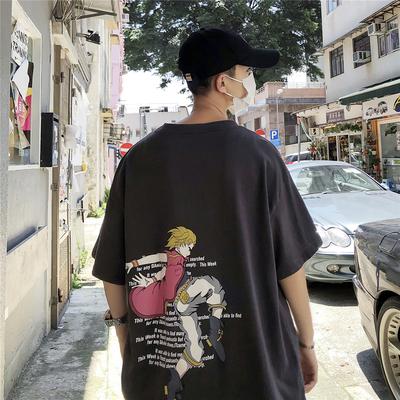 2019夏 寬松全棉 創意 印花短袖T恤 T9918/P45(不低于58)有版權