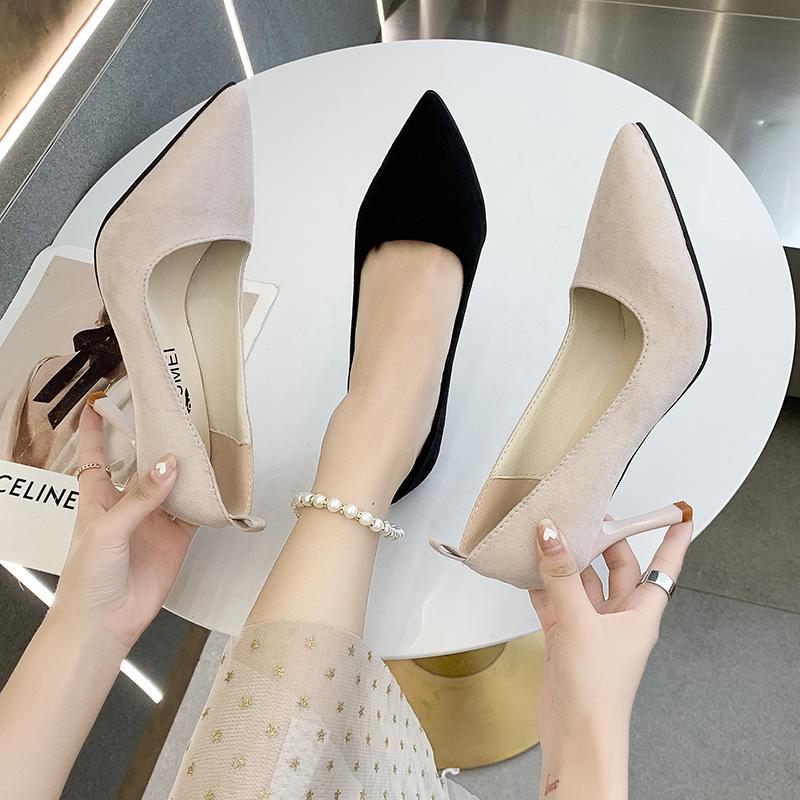2021春夏季新款单鞋女鞋子低帮鞋韩版时尚学生甜美女性职业工作鞋