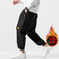 2019 HK1958加绒 日系无影墙大码贴标工装加绒裤M-5X HK11958-P65