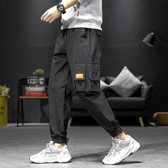 2020 春季新款 日系内景大码束脚休闲裤M-5X HK20080-P45