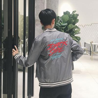 2017秋季新款 港风贴标刺绣夹克M-5X HJ32-P80