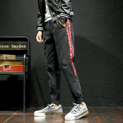 2018 秋季继续做的爆款 织带日系黑墙休闲裤M-5X HK31-P45
