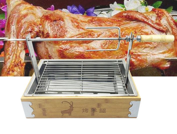 羊の腿肉を保温ストーブで焼いて羊の腿肉を焼いてウサギの棚を焼いて羊の腿炉をあぶります。