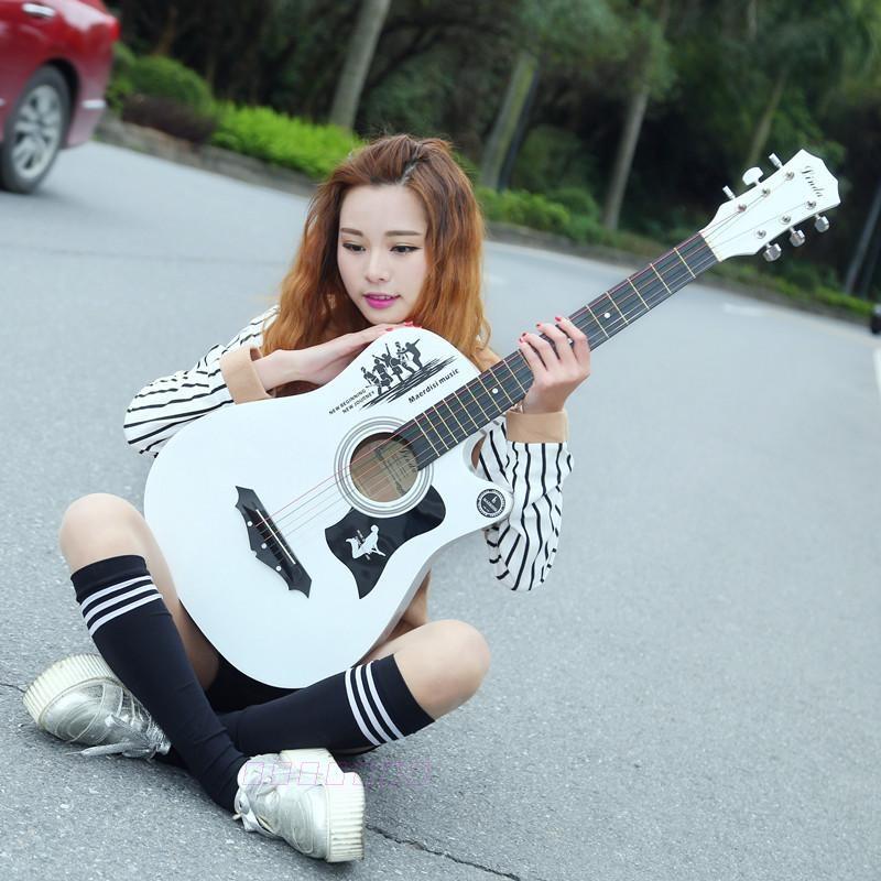 初学者学生用入门41寸通用家用吉他男生款韩版潮流个性民谣演奏