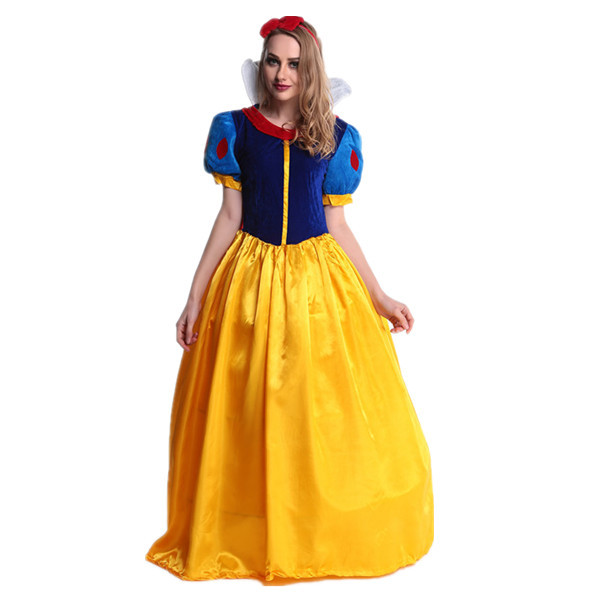 Halloween Disney Snow white dress long dress fairy tale Cosplay cosplay costume stage costume