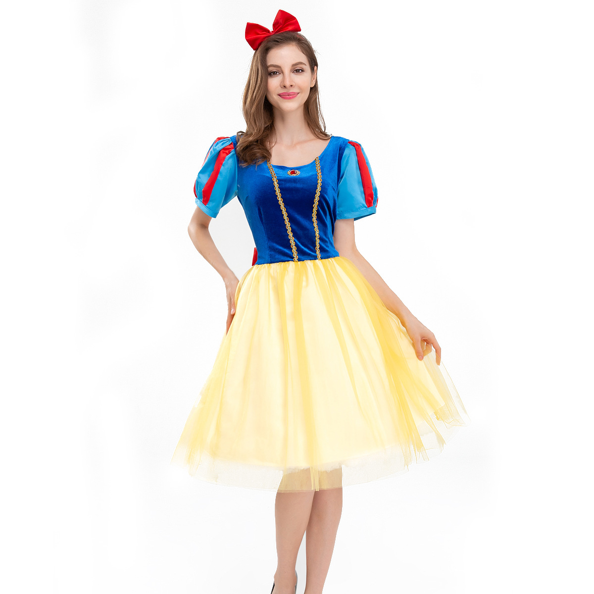 New snow white role play theme park princess dress show dress party ball cosplay