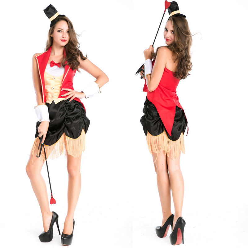 European and American game uniform role playing circus trainer costume magician uniform night stage costume