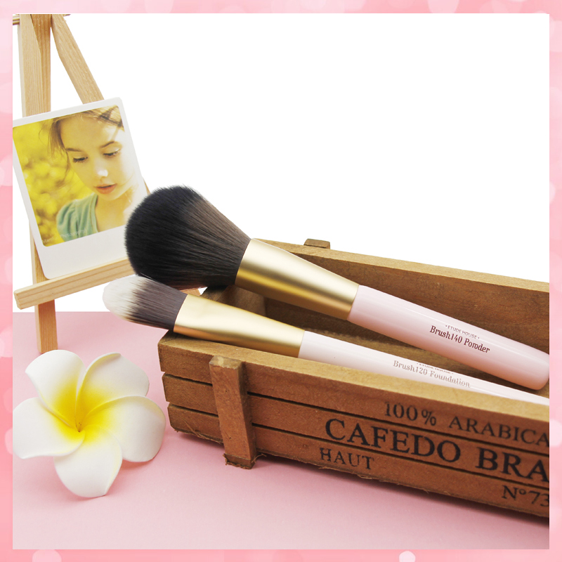 On sale, ETUDE cosmetic brush set, blush foundation, eye shadow brush, double head concealer, high gloss, nose shadow, eyebrow brush, soft hair.