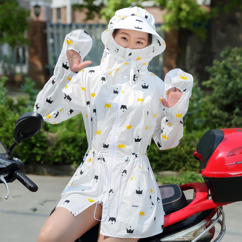 Лето поездка электромобиль солнцезащитный одежды женщина закрытый с длинными рукавами чистый хлопок тело солнцезащитный крем мотоцикл закрытый затенение шаль лето