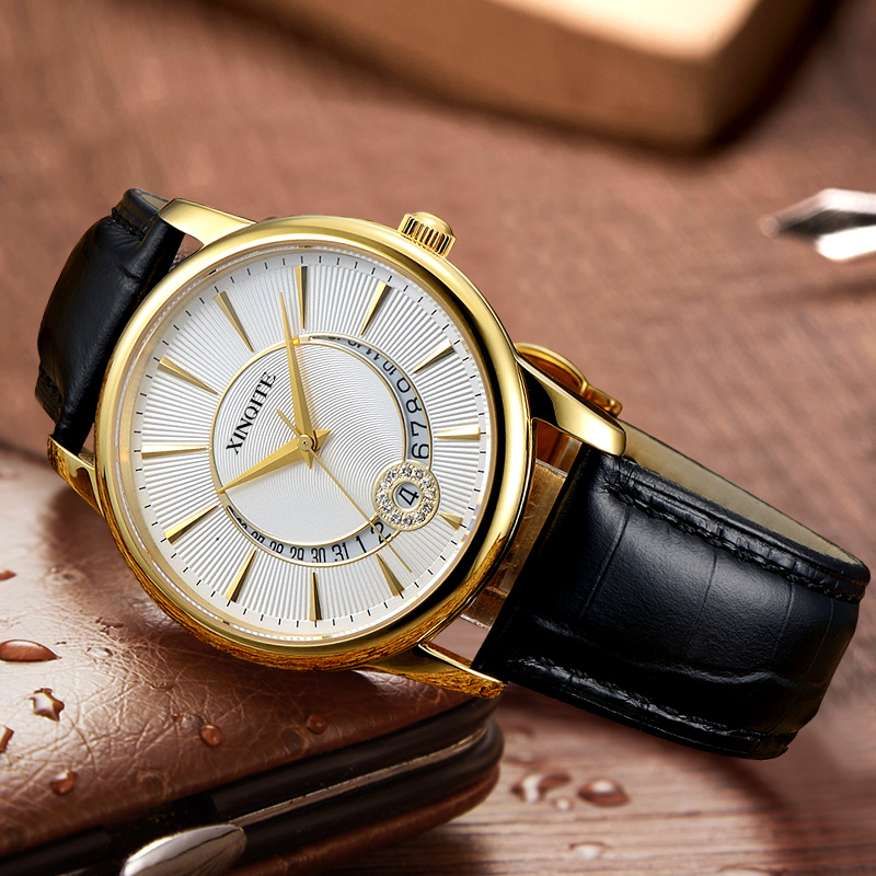 2020 mens watch business simple automatic mechanical watch leather Chinese famous brand watch waterproof mens Watch