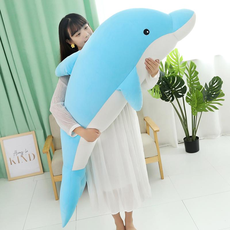 海豚毛绒玩具公仔床上睡觉可爱抱枕10-21新券