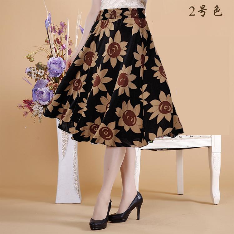 天天特价中老年女装夏妈妈装百褶半身裙冰丝太阳裙广场舞中裙裙裤