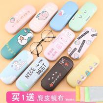 眼镜盒ins少女韩国小清新女学生可爱卡通文艺便携抗压折叠眼睛盒