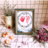 Baby souvenir hand and foot print not far away marriage guarantee agreement daughter newborn baby full moon hundred days commemorative foot print