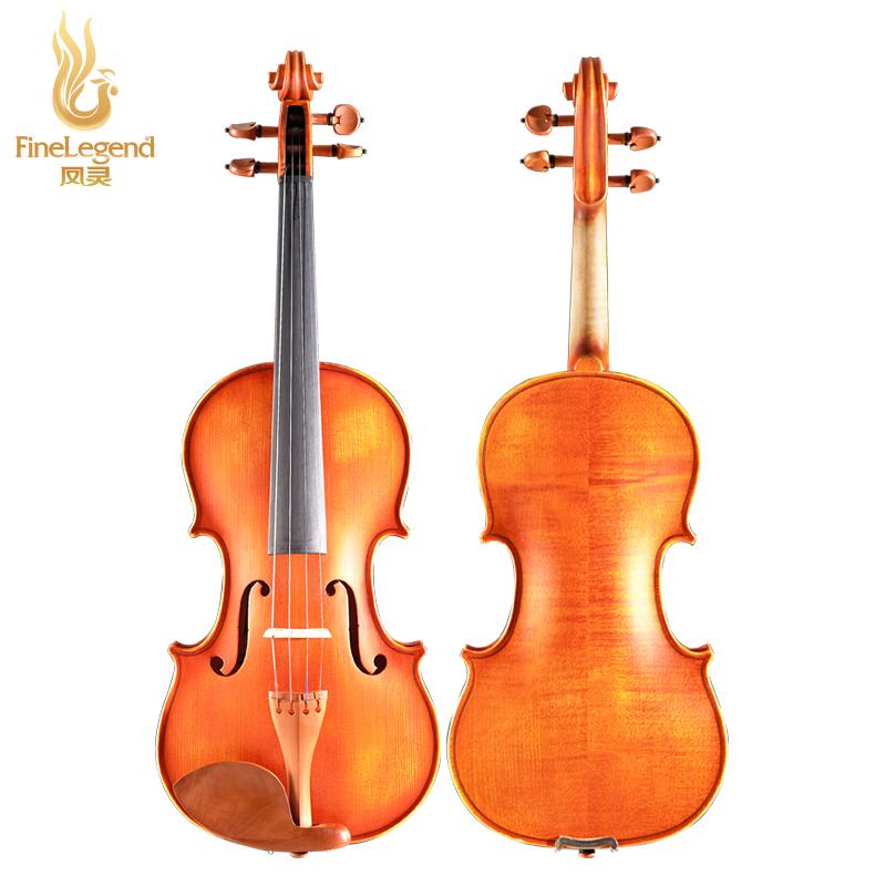 凤灵小提琴手工联系考级初学者专业练习儿童成人乐器复古哑光枫木