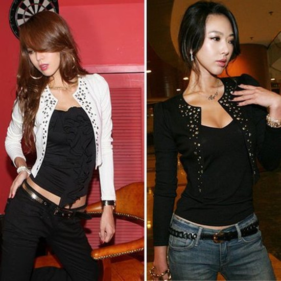 [new style on the market] allure exquisite Metal Fashion Button small coat in 2 colors