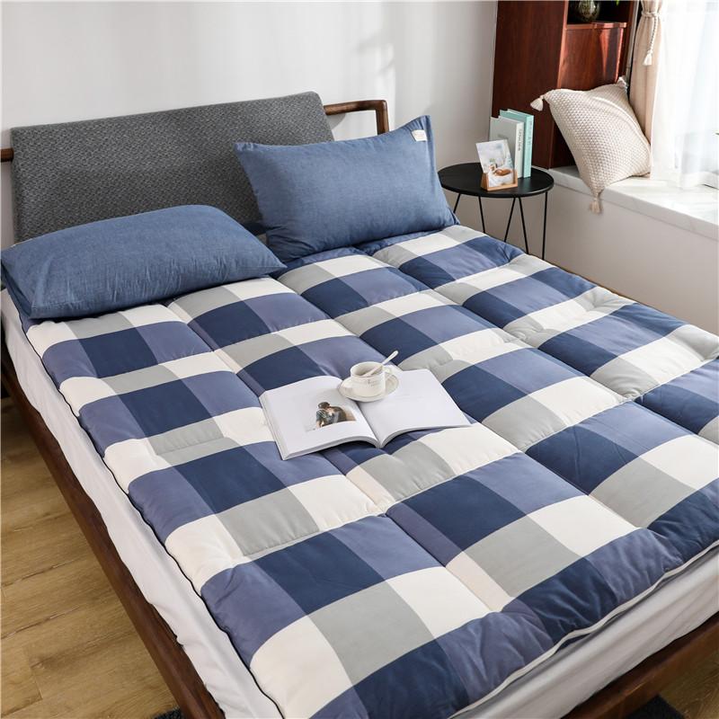 罗兰家纺纯棉棉花床垫 棉絮床垫1.8m单双人1.5米垫被保暖全棉床褥五折促销