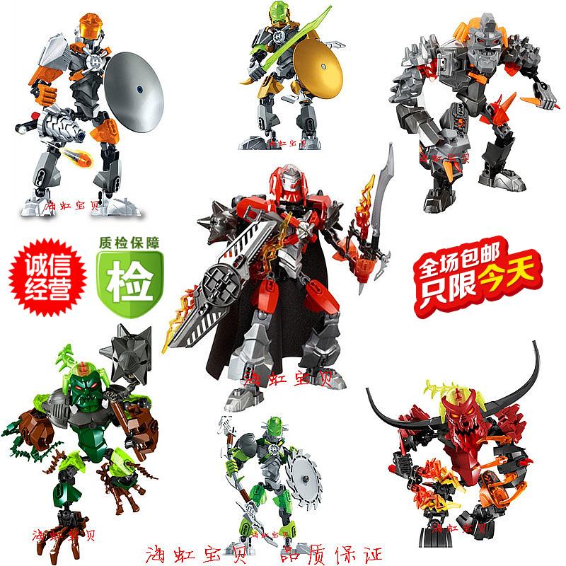 得高拼�b玩具益智�e木 英雄工�S5.0全套 合�w�C器人5�q男孩玩具