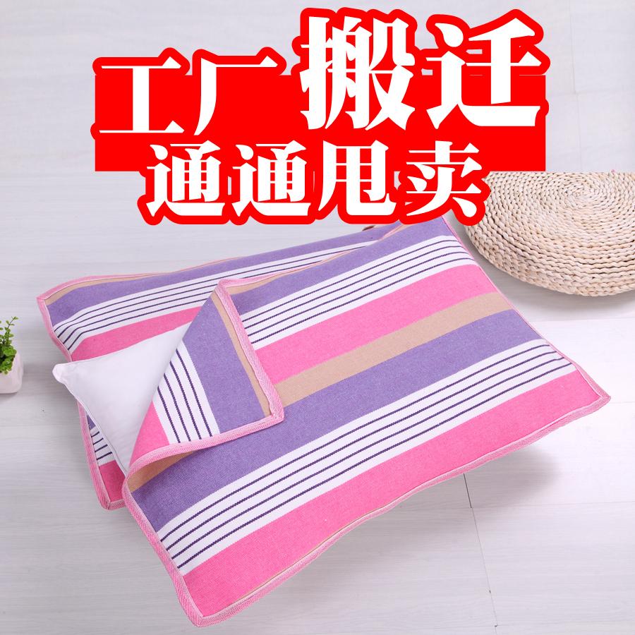 【天天特价】【一对装】老粗布枕巾单人透气加厚防螨四季棉布枕巾