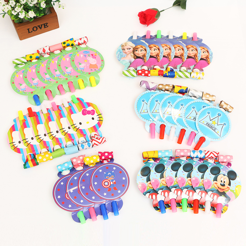口哨儿童哨子小吹龙宝宝生日派对玩具吹吹卷卡通可爱吹口哨塑料