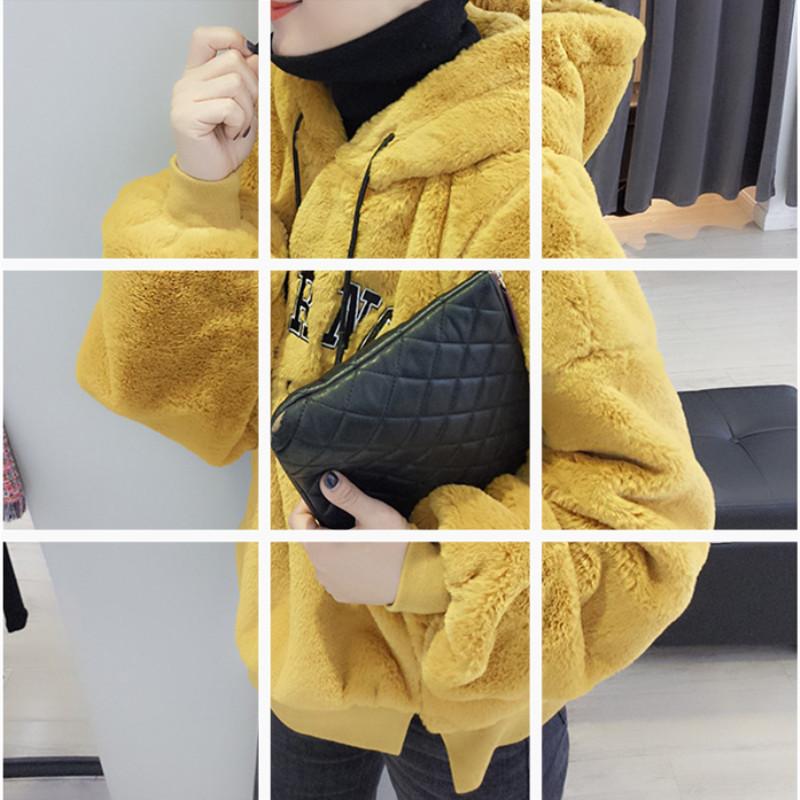 欧洲站秋冬装女2018新款欧货潮韩版宽松连帽套头加厚毛绒短款卫衣