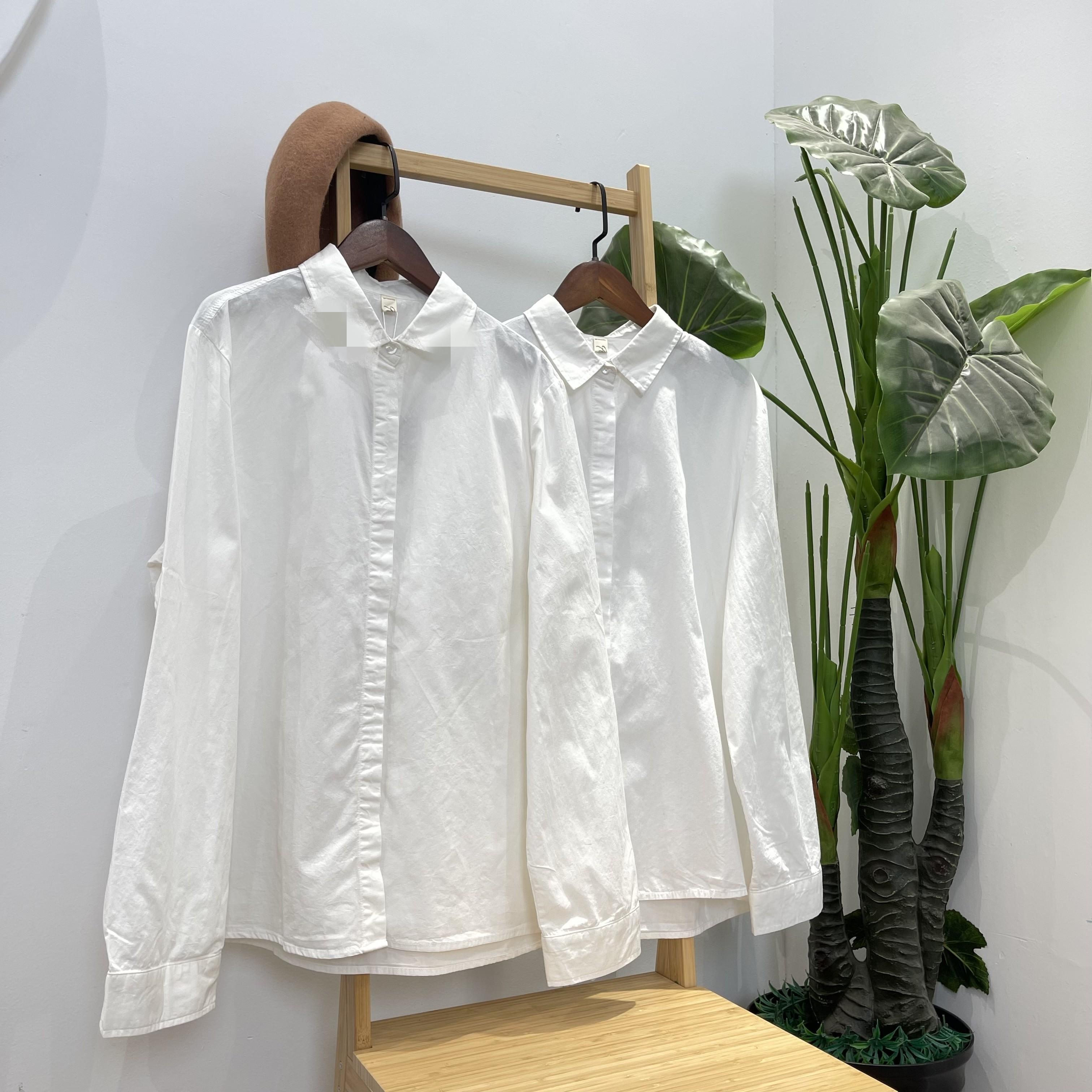 纯棉白衬衫女装长袖春季新款打底衫衬衣休闲修身职业装上衣白色