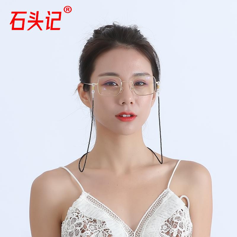 眼镜链女挂脖水晶挂链绳复古时尚网红明星同款太阳眼睛墨镜链条