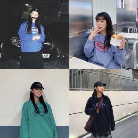 2019秋冬韩国87mm mmlg字母卫衣