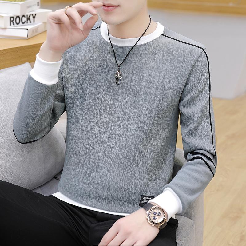 2020秋季潮流时尚卫衣青年打底衫男士长袖T恤韩版上衣W2751-P25