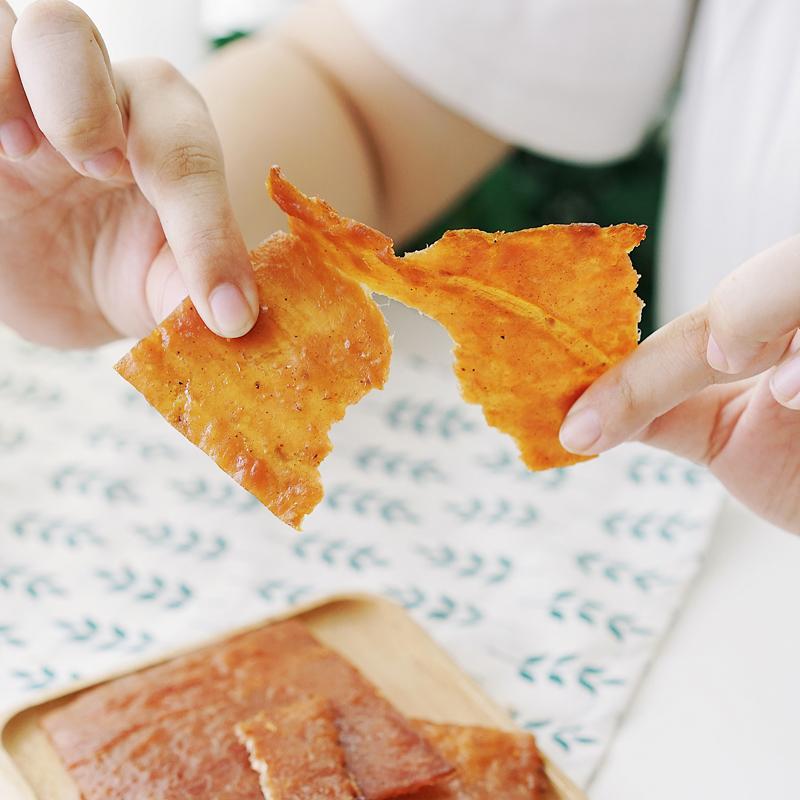 夏午三点 潮汕特产手工碳烤猪肉脯手撕秘制猪肉干休闲零食200g