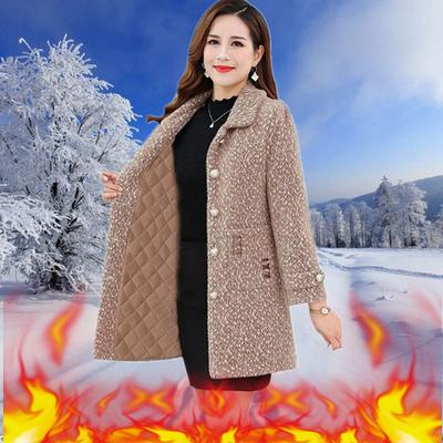 反季妈妈冬装水貂绒新款仿貂绒大衣