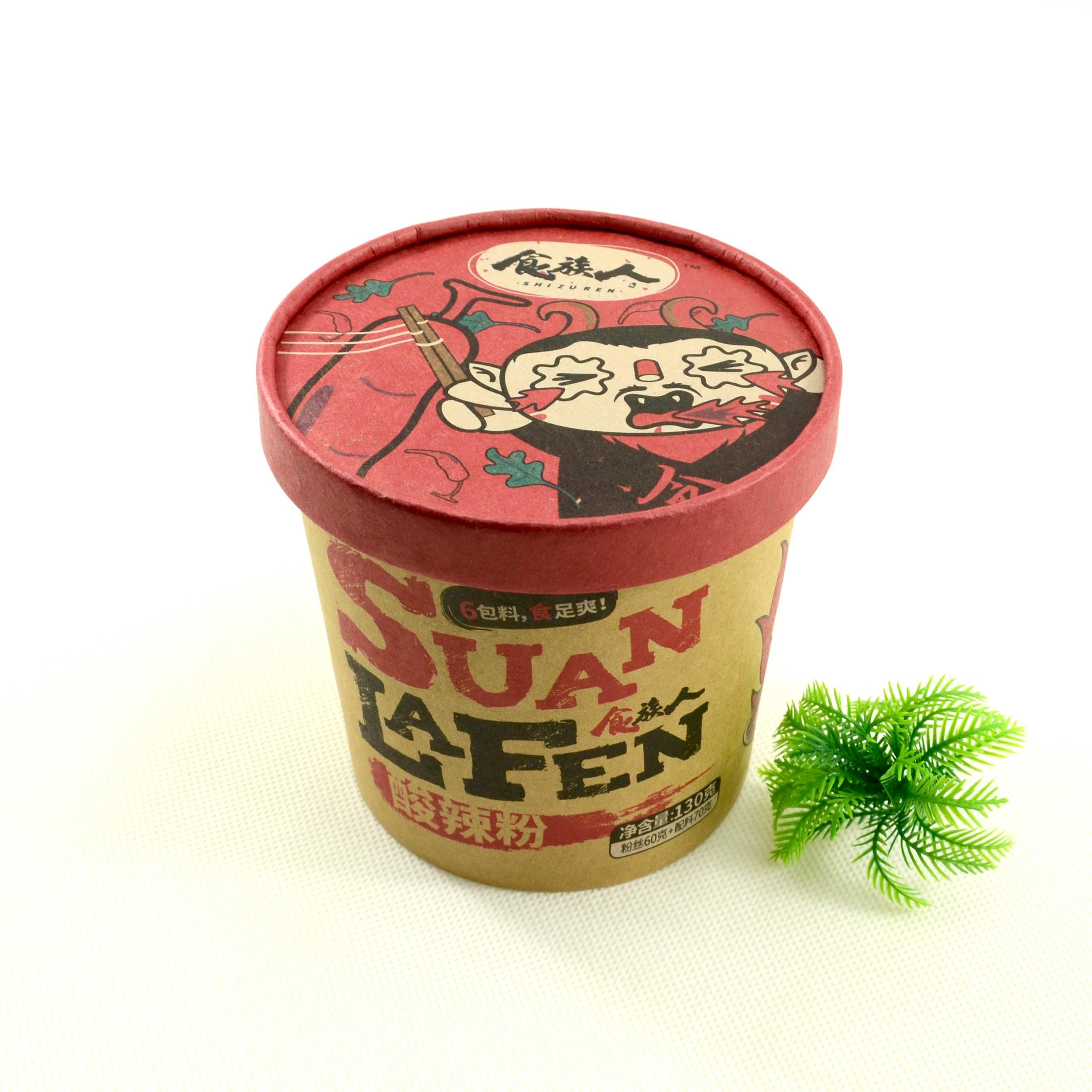 食族人酸辣粉网红零食酸辣可口重庆口味3桶方便速食包邮