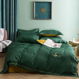 四件套全棉纯棉1.5米床上用品少女心秋冬单双人简约床单被套1.8m价格