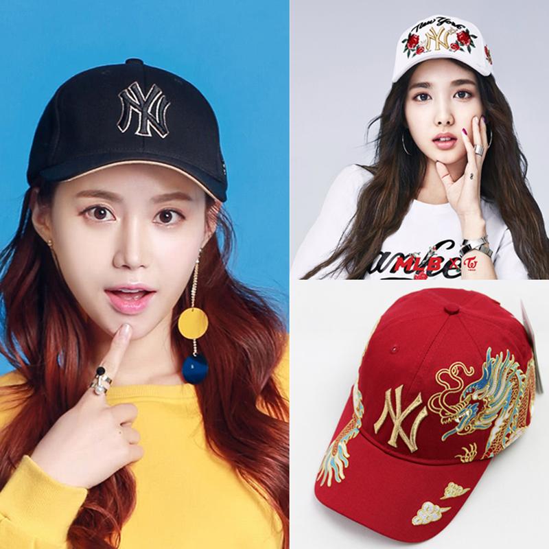 韩国MLB棒球帽小标正品19新款ins男女LA帽鸭舌夏天洋基队ny遮阳帽