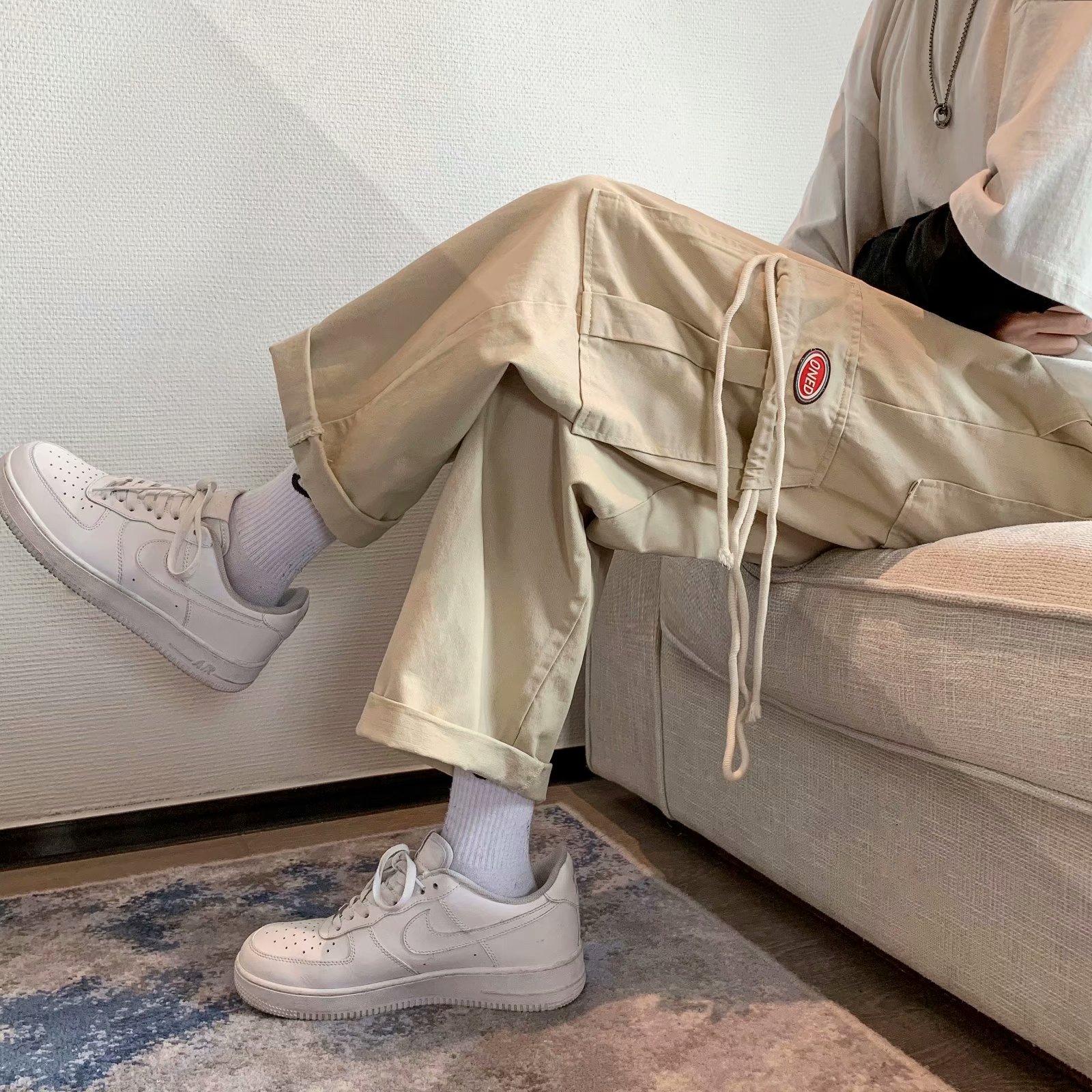 日系工装裤小个子夏季直筒宽松显瘦阔腿休闲裤子2021新款ins潮