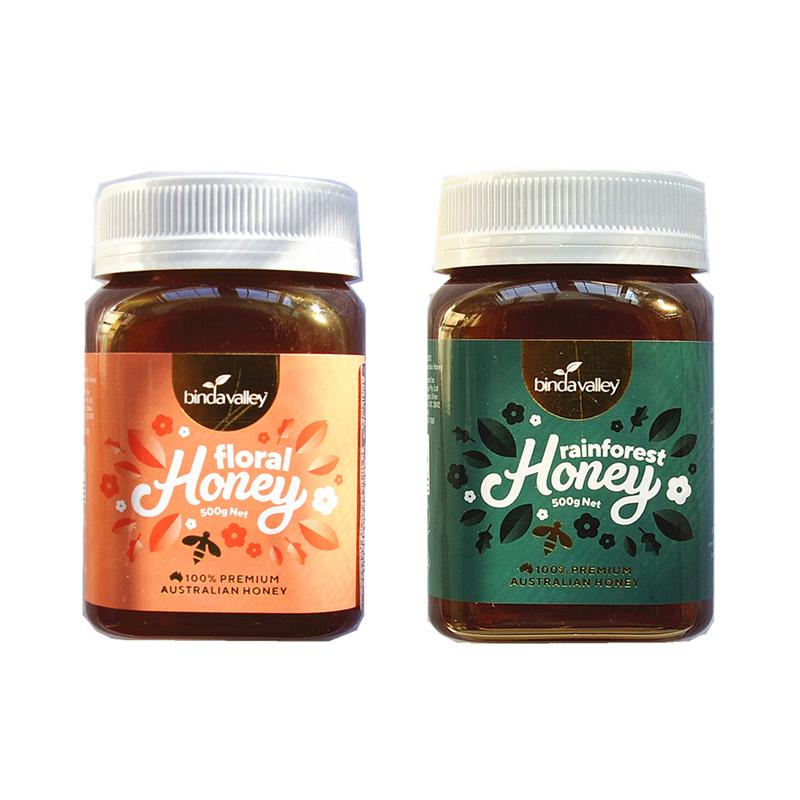 包邮 Binda Valley 澳洲进口宝德谷蜂蜜500g瓶装 多种花和雨林花