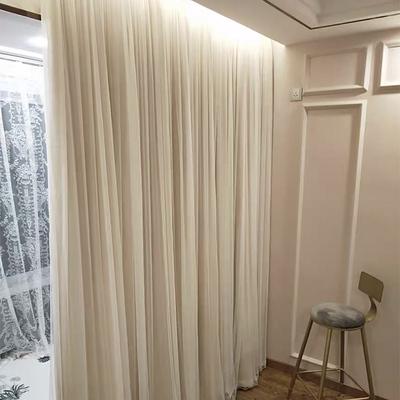 双层网红轻奢北欧灰色遮光韩式窗帘