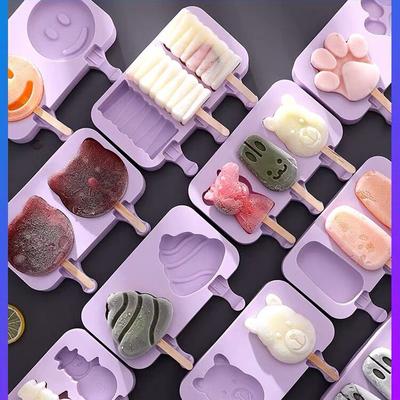 雪糕模具家用冻做冰棍冰棒冰淇淋冰糕的自制儿童可爱硅胶制作套装