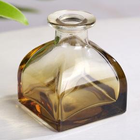 无火香薰空瓶配件蒙古包造型精油挥发瓶透明喷色玻璃室内香水瓶子
