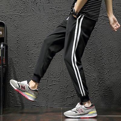 电商A203 95%聚酯纤维氨纶5%夏季休闲运动裤九分束脚裤K12-特P35
