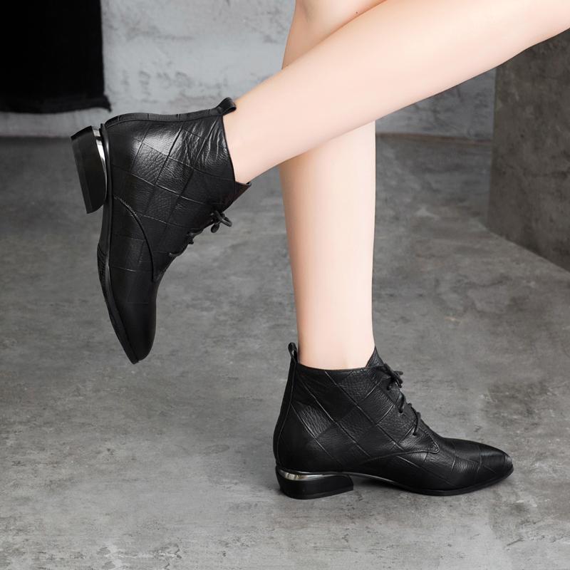 ダッフルとショートブーツの女性ローとスパイク冬2019新型マーティンブーツの女性エレン春秋本革靴の靴