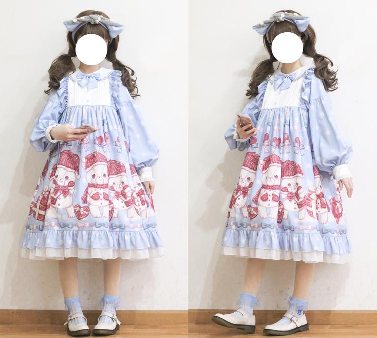 【现货】原创点点熊op lolita连衣裙买三送一