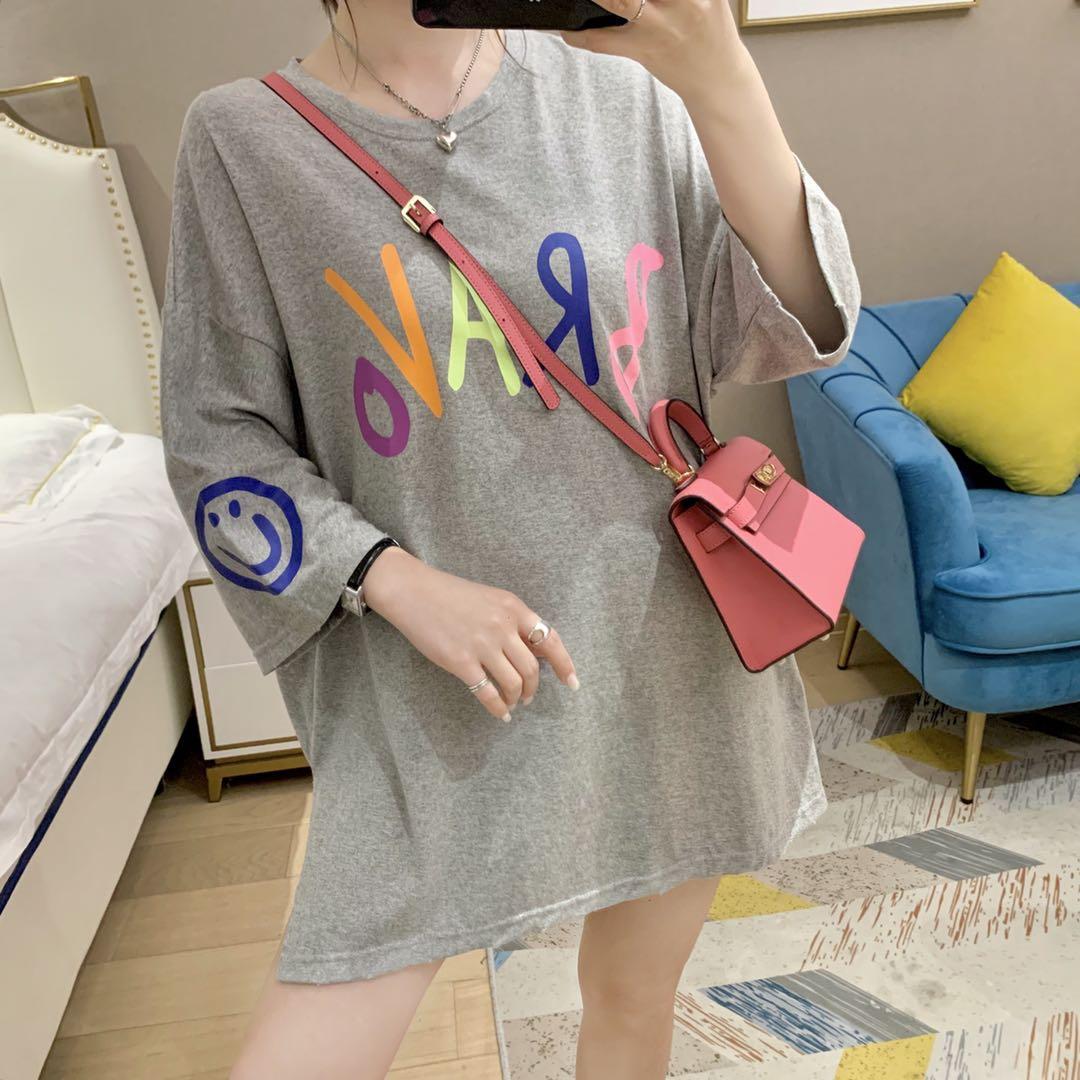 欧洲站女装2020夏款新款潮欧货时尚宽松舒适字母大版t恤女上衣薄