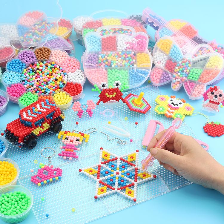 水雾神奇魔法珠手工diy魔珠水雾珠女孩水珠水木制作儿童玩具
