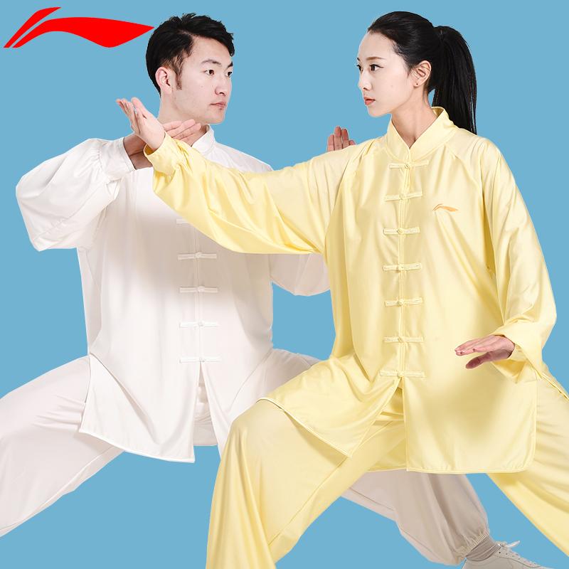 Одежда Li Ning Taiji мужской Летний сезон воздухопроницаемый Боевые искусства Тайцзицюань практике одежды женщин профессиональных шоу-шоу утренних упражнений