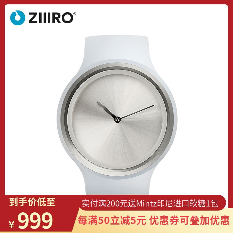 零ZIIIRO离子系列手表创意新款指针式男女白色简约手镯式表带