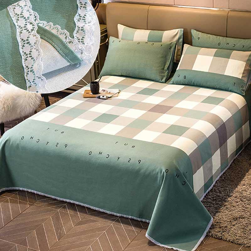 纯棉老粗布床单三件套亚麻加厚枕套用后反馈